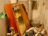 verwijderen oude kachel, bedandbreakfast-leer